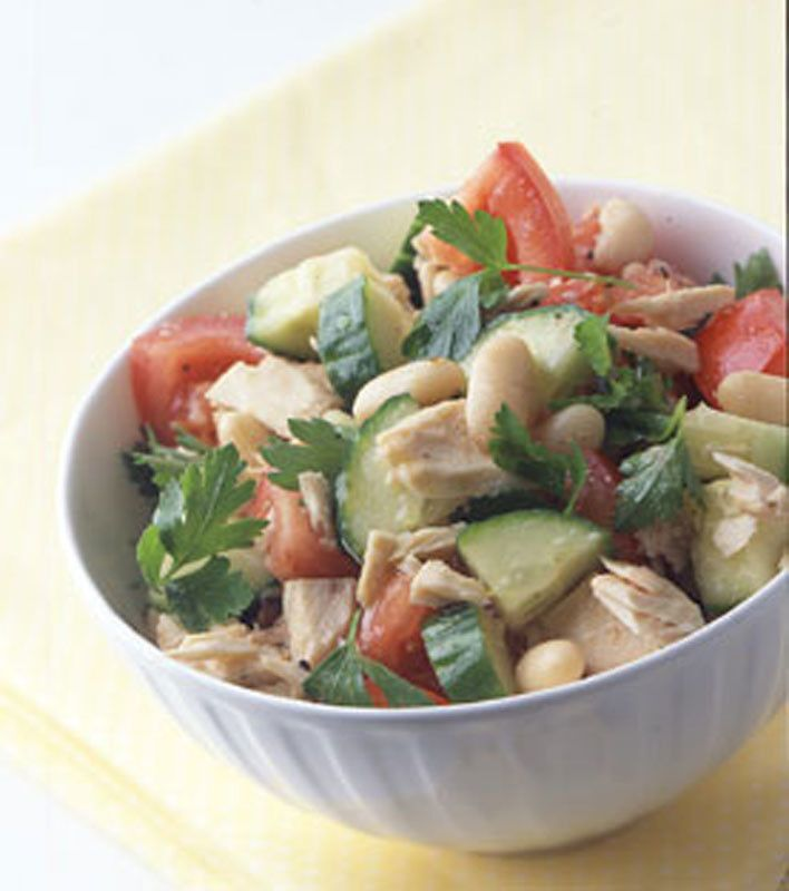 Tuna and White Bean Salad -- alternate to classic tuna salad. This one ...
