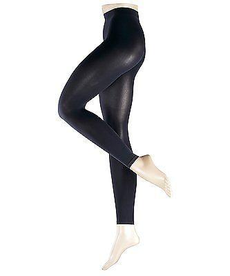 Small, Blue (Marine), Falke Women's Warm Deluxe Leggings