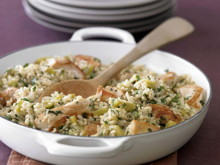 Ein Rezept für die ganze Familie: Hähnchen-Reispfanne - smarter - Zeit: 40 Min. | eatsmarter.de