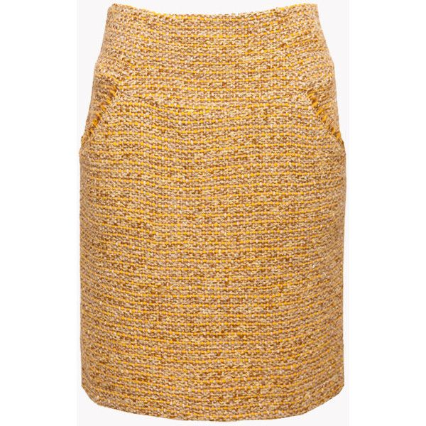 Boucle Wool Skirt Mustard Yellow Skirt Yellow Midi Skirt Yellow Pencil Skirt Winter Ski ($73) found on Polyvore featuring women's fashion, skirts, grey, women's clothing, midi skirt, mustard yellow skirt, high waisted pencil skirt, high-waisted skirts and wool pencil skirt