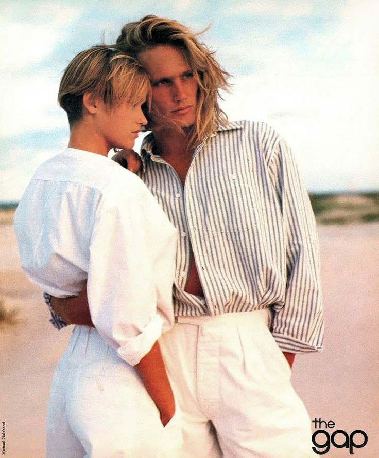 My husband's hair looked just like this when I met him in '90..and didn't we all dress like this! wow