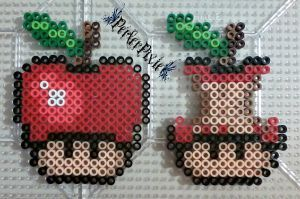 Red Apple Mushrooms by PerlerPixie