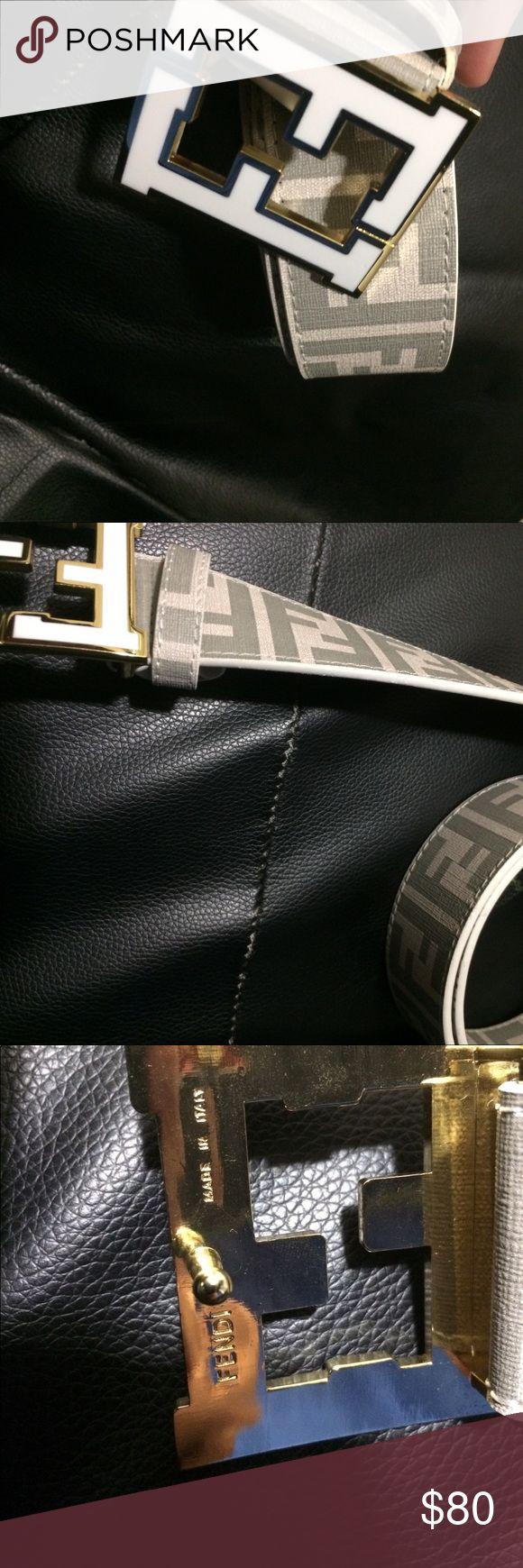 Men's Fendi belt White mens fendi belt. Brand new UA fendi belt. Fits size 30-36 Fendi Accessories Belts