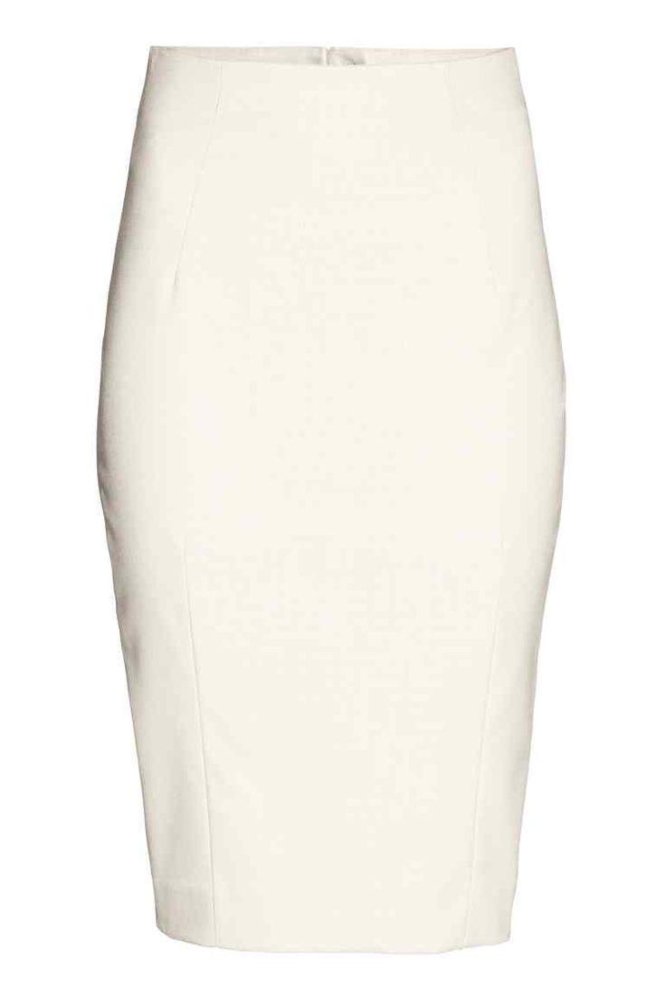 Úzka sukňa - svetlobéžová/vzorovaná - ŽENY | H&M SK 1