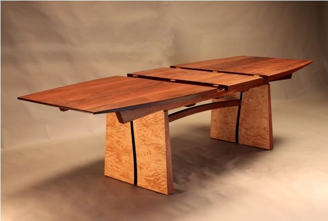 Meander Extension Tableproduced for a customer of Probst Furniture Makers