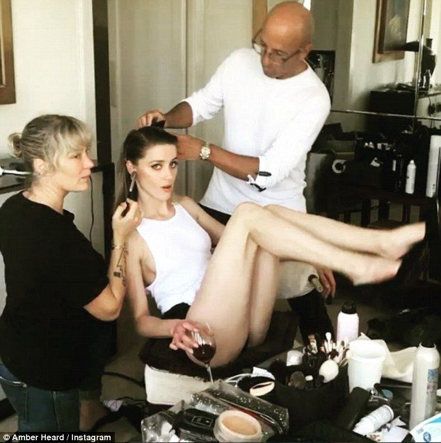 FOW 24 NEWS: Amber Heard Flashes Sideboob While Getting Glammed...