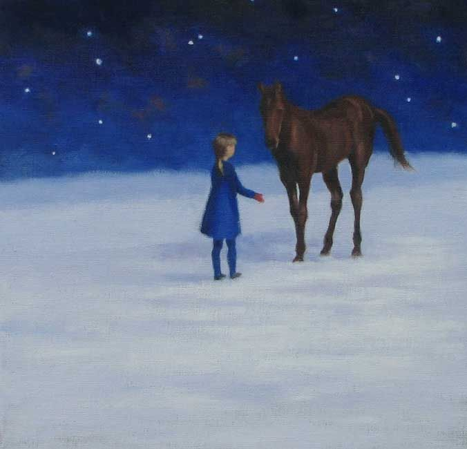 Fleur Grabow The Girl And The Foal 12x12
