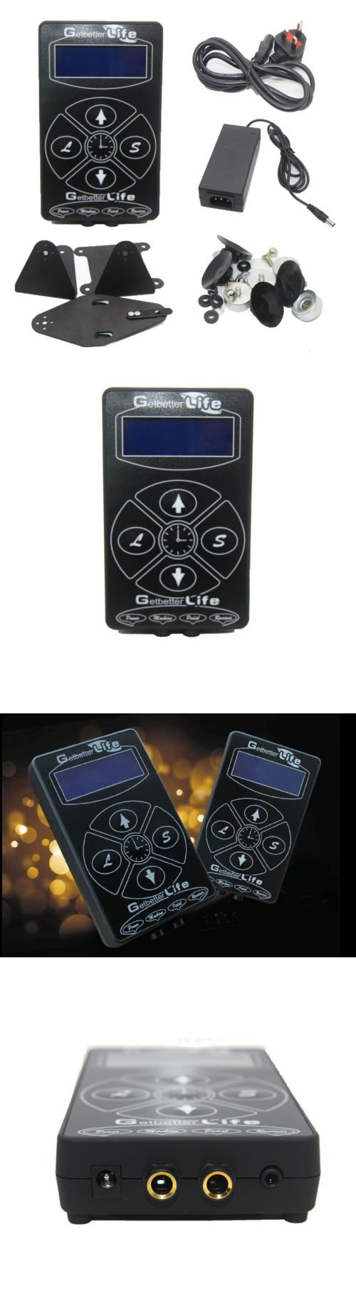 Tattoo Supplies: Getbetterlife Pro Black Digital Dual Lcd Tattoo Power Supply For Machine Gun -> BUY IT NOW ONLY: $31.99 on eBay!