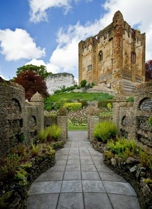 The 12th century Guildford Castle, Surrey, England