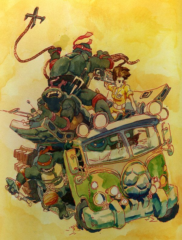 TMNT - by Mister-Meh on DeviantArt http://www.deviantart.com/art/The-Scoop-468170095