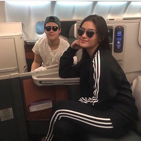 Have a safe flight lovers! 💕 😍 #LizQuen #LizaSoberano #EnriqueGil #LizQuenIsReal #TeamForever #KingoftheGil #QueenoftheGil 📷@tfclivena