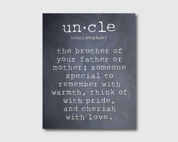 Wall Art An uncle is a person Aunt Quote by SusanNewberryDesigns, $15.00.
