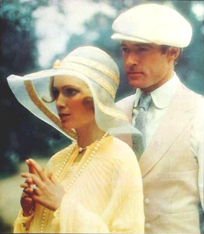 Mia Farrow and Robert Redford (El gran Gatsby)