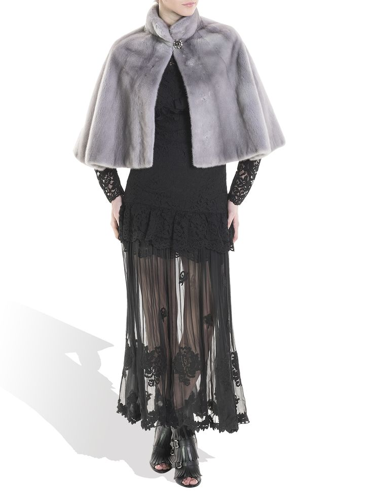 Nothing will make you feel more elegant than this exquisite mink cape.