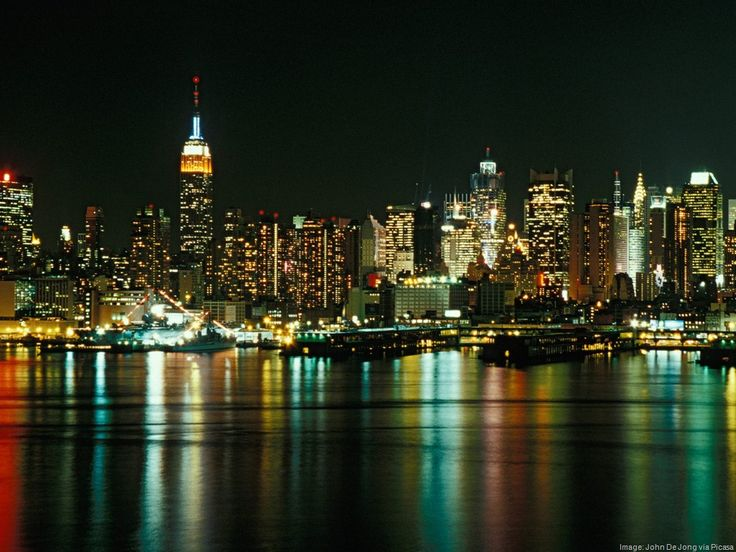 New York City Skyline as Seen From Weehawken, New Jersey