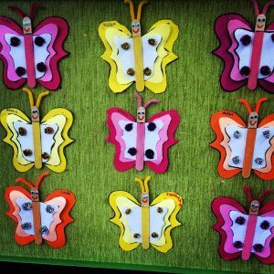 popscile stick butterfly craft