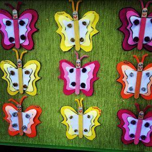 popscile stick butterfly craft