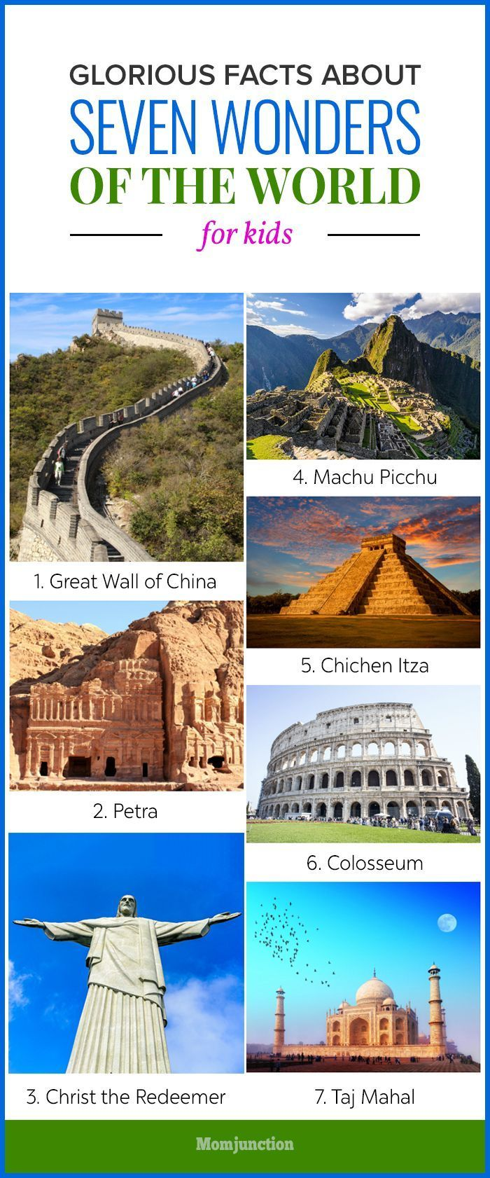 Glorious Facts About Seven Wonders Of The World For Kids Momjunction Wonders Of The World 7 World Wonders Seven Wonders