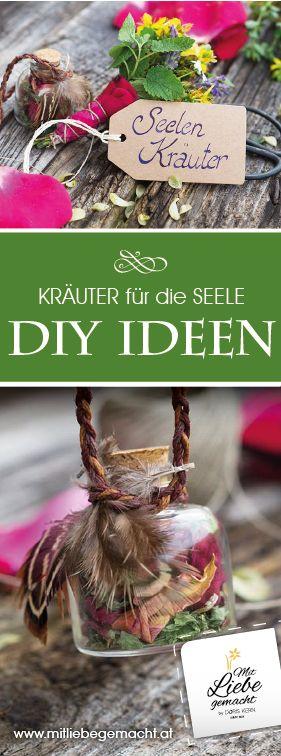 Kräuter für die Seele, die einfach gut tun! Dazu schöne Ideen wie Kräutersträußchen, Duftanhänger, Duftkissen und viele Infos! #Kräuter #DIY #mitLiebegemacht