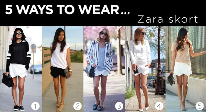 5 Ways to Wear the Zara Skort