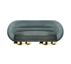 Mansfield is a midcentury masterpiece that combines the retro touch of its materials with sleek lines from the 60's. This velvet sofa with a wide armrest aims to be an iconic piece dislocated right from the high-end Mad Men era.