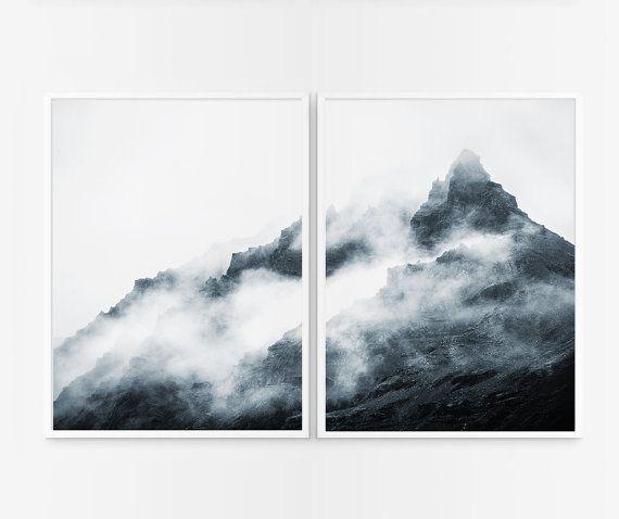 Mountains photography. Mountains poster. printable por Byoliart