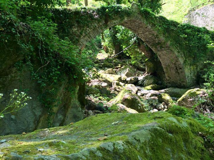 Τοξωτό γεφύρι στην Τσαγκαράδα Πηλίου