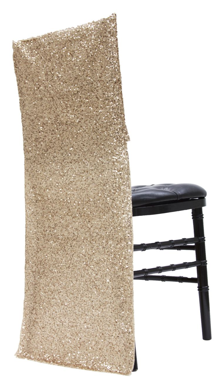 Glitz Sequin Full Chair Back Cover - Champagne