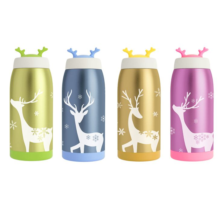Christmas Gift Thermos Bottle 350/500ml for Child Stainless Steel Garrafa Termica Inox Travel Cup Copo Termico Mug Cute Termo