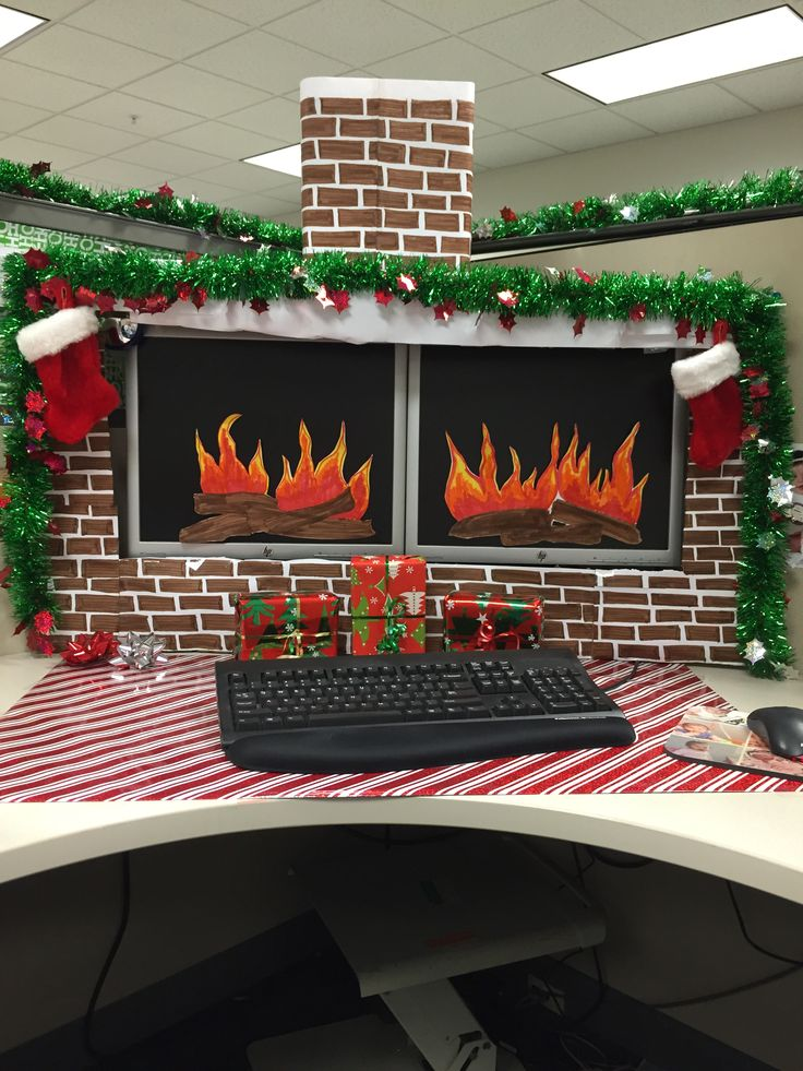 Christmas desk decorations. I have a pin out there without the chimney. I added the chimney today.
