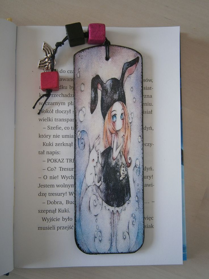 Decoupage Bookmark Anime Zakładka #decoupage #bookmark #anime