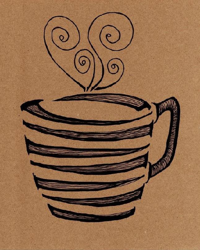 Coffee love print