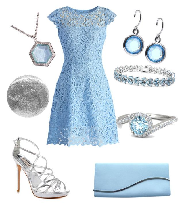 """High Tea Outfit 53 - Natasha"" by office-girl ❤ liked on Polyvore featuring Chicwish, Anne Klein, Jade Jagger, Malaika, Badgley Mischka, Giorgio Armani, Leighton Denny and Gemvara"