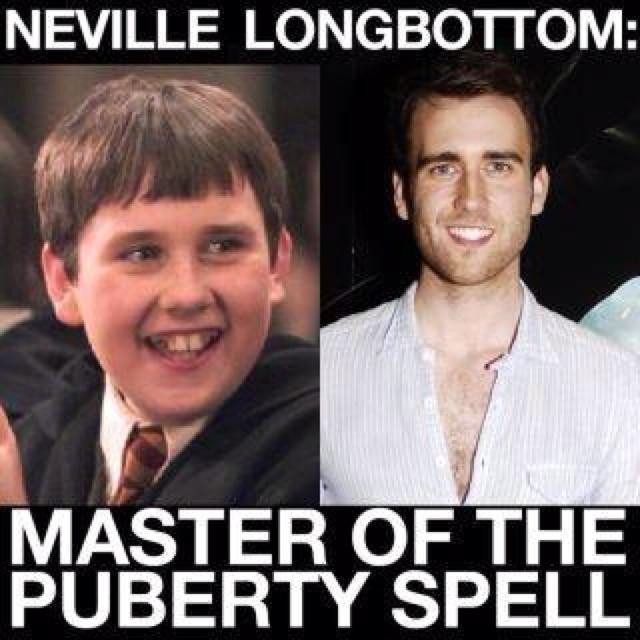 Neville Longbottom: Master of the puberty spell lol ...