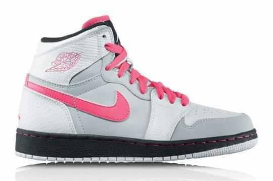 Pink and grey Jordan's.