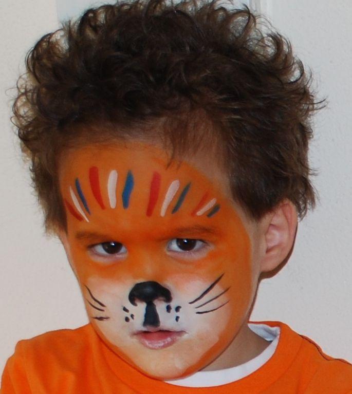 Afbeeldingsresultaat voor oranje leeuw schminken