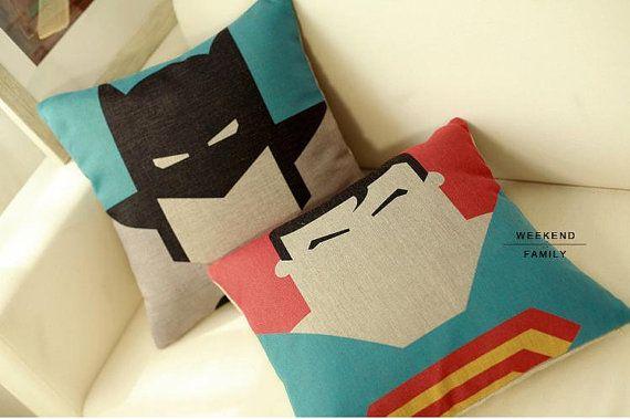 Coussin de Superman Batman, prêt à l'emploi, Creative, confortable, décoration moderne, oreiller, cadeau de mariage