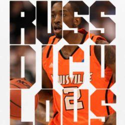 Russ Smith Russdiculous Louisville Cardinals Basketball White T Shirt