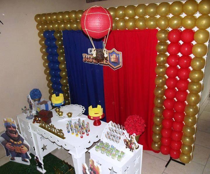 Decoração de Festa Infantil na cidade de Pomerode-SC. Tema Clash Royale