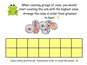 This ActivInspire flipchart is a complete, scaffolded, and systematic way to teach your students about coins using Magic Money dots.