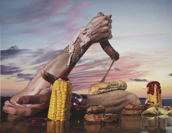 As surreais pinturas hiper-realistas de Till Rabus