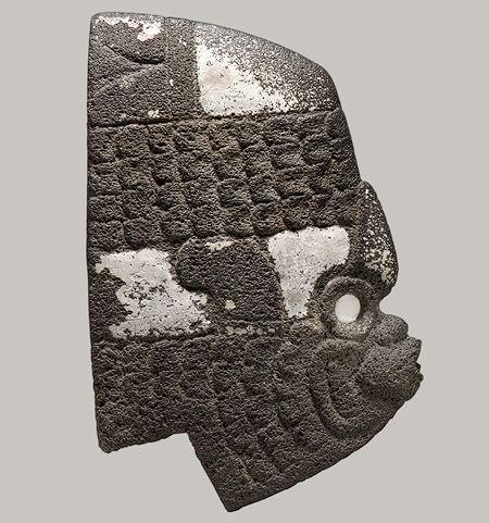 Fish Hacha, 7th–10th century Mexico, Veracruz Stone, shell, pigment