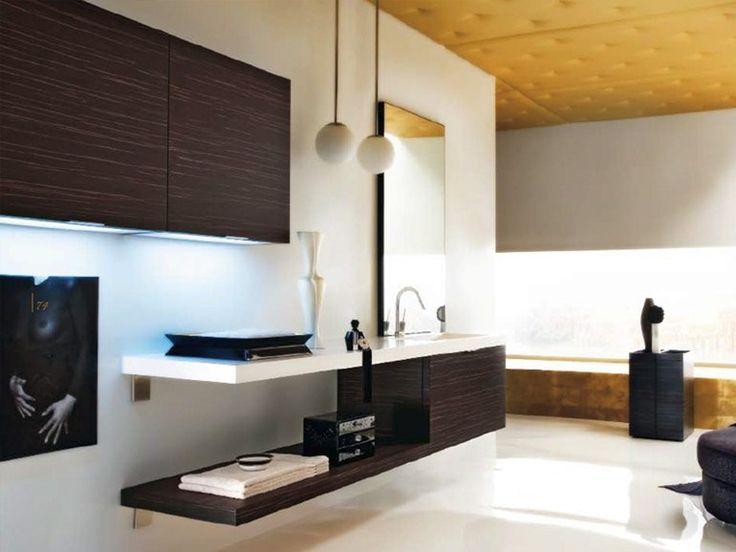 MAORI Mobile bagno con illuminazione integrata by Cerasa design Stefano Spessotto