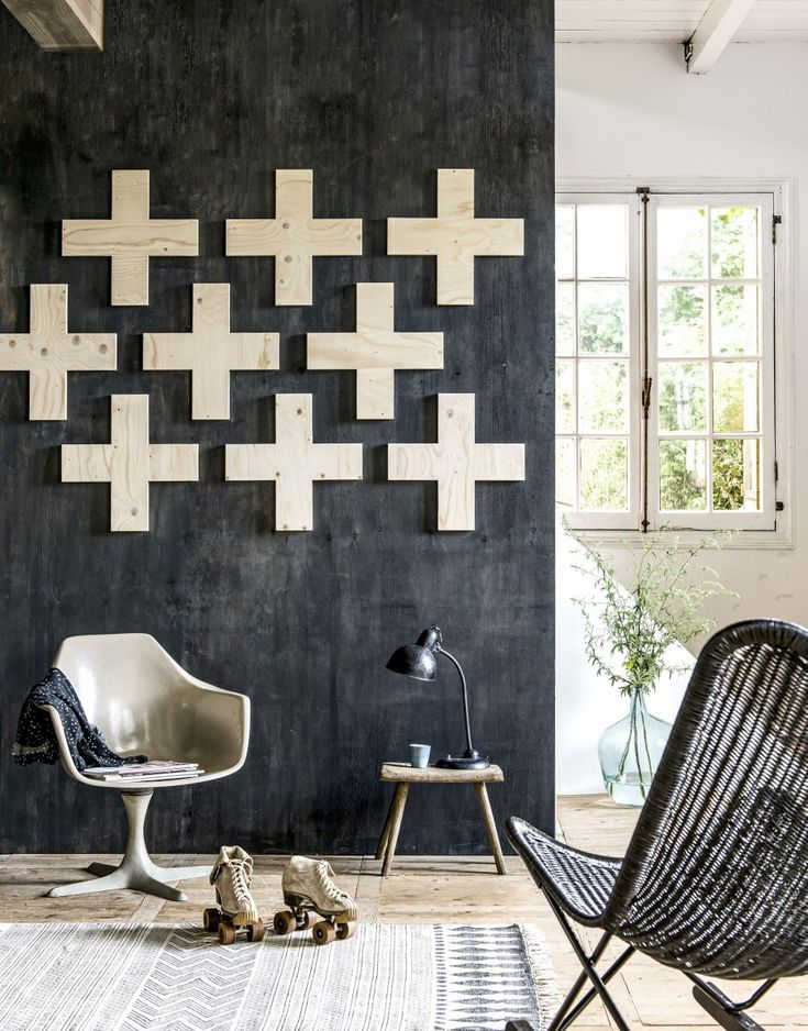 Wall Decoration Plywood : Best ideas about black wall decor on