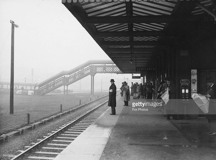 Commuters at Worcester Park railway station.