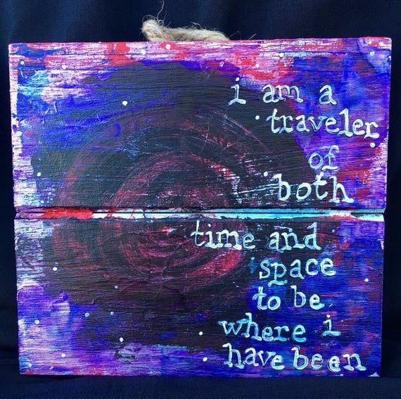 Led Zeppelin Kashmir Lyric Artwork I Am A Traveler Of Both Time