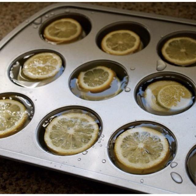 large lemon ice cubes