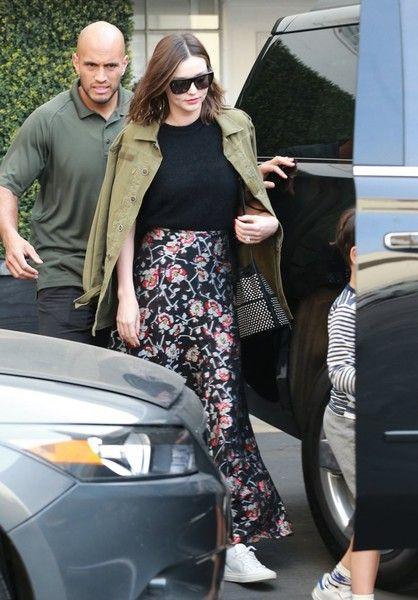 Miranda Kerr Photos Photos - Supermodel Miranda Kerr was seen leaving Epione salon with her son Flynn Bloom in Los Angeles, California on April 7, 2017. - Miranda Kerr Visits Epione With Her Son Flynn