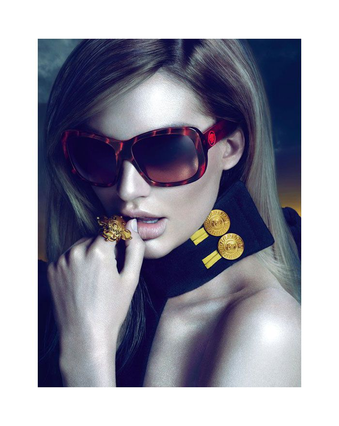 versace sunglasses that look like ray bans  candice swanepoel for versace eyewear fall 2011 campaign