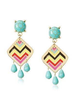 70% OFF Noir Acapulco Chevron Small Earrings